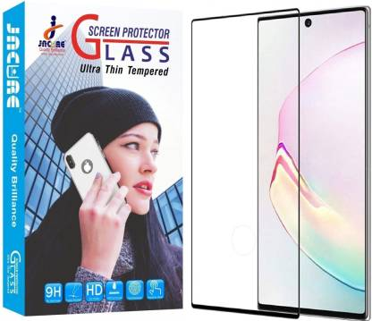Jacure Edge To Edge Tempered Glass for Jacure® Compatible for Samsung Galaxy Note 10 Plus Tempered Glass 3D Full Adhesive Curve Anti Glare Full Coverage Bubble Free Tempered Glass for Samsung Note 10 Plus/Pro