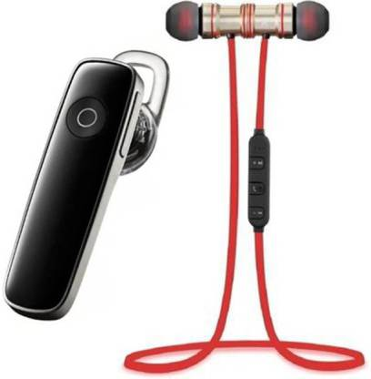 N2B MAGNET Red & k1 Pack of 2 Bluetooth Bluetooth Headset