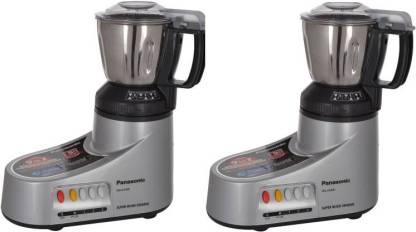 Panasonic MX-AC400 PACK OF 2 550 Mixer Grinder (2 Jars, Silver)