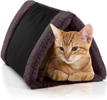 Petslover Cat Bed Cave House Cum Bed Best For Indoor Cats Houses Heated Kitten Warm Pet Self Warming W Hoods Caves Igloo Covered M Pet Bed Black Cat Dog House Price In India