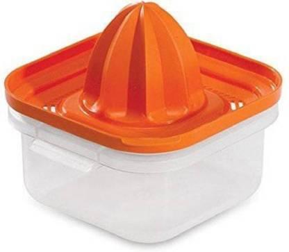 saluna Plastic Hand Juicer Manual Press Citrus Juicer (Orange)