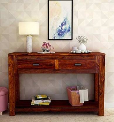 Wooden Console Table For Living Room, Bed & Room Porter Queen Portrait Wall Bed With Desk