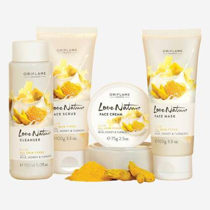 Oriflame honey & turmeric facial kit for all skin types