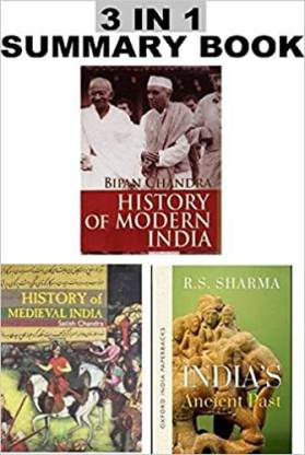 History Combos Books For Upsc And Other Exam Modern India+Medival India + Ancient Past (English)