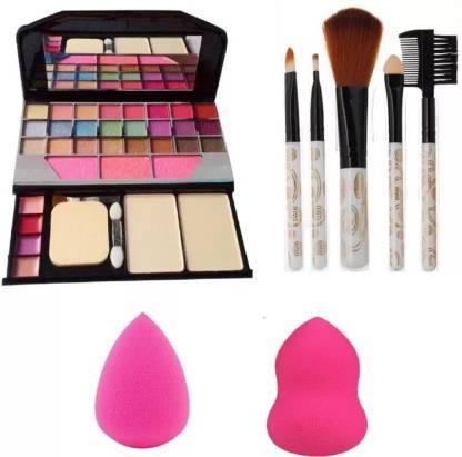 GWENLOOK 6155 makeup kit + 5 pcs makeup brush + 2 pcs Blender puff