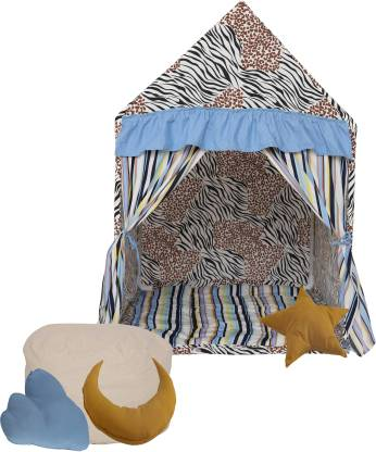 Second May Kids yurt multicolor play house tent small size, quilt, Bean Bag with beans and cushions