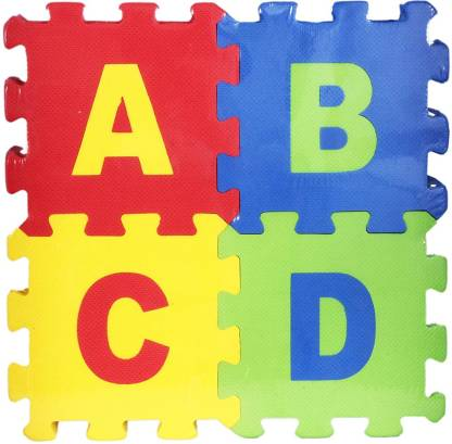 RERLY attractive colourful alphabet letter NUMBER LEARNING MAT & ABCD BLOCK as floor JIGSAW PUZZLE TILE & PLAYING MATT soft toy under kids LEARN & PLAY & EDUCATION with A to Z alphabet & 0 to 9 number