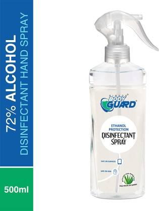 Aryanveda Herbals Bodyguard Hygiene Cleanser 72% Alcohol-Based Disinfectant Spray