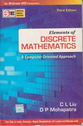 Elements Of Discrete Mathematics (SIE) by LIU-English-Tata Mcgraw Hill Education Private Limited-Paperback_Edition-3rd 3rd Edition