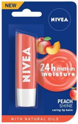 NIVEA Shine Caring Lip Balm Peach