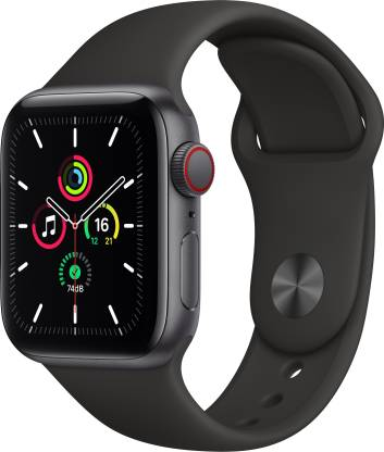 APPLE Watch SE GPS + Cellular 40 mm Space Grey Aluminium Case with Black Sport Band
