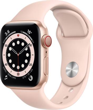 Apple Watch Series 6 GPS + Cellular 40 mm Gold Aluminium Case with Pink Sand Sport Band