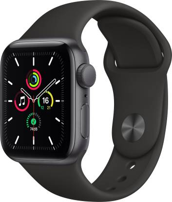 APPLE Apple Watch SE 40 mm Space Grey Aluminium Case with Black Sport Band