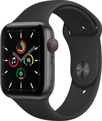 APPLE Watch SE GPS + Cellular 44 mm Space Grey Aluminium Case with Black Sport Band