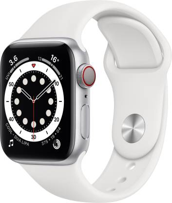 Apple Watch Series 6 GPS + Cellular 40 mm Silver Aluminium Case with White Sport Band