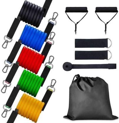 Amextrian Resistance Bands Set with Handles, Workout Tubes Bands with Door Anchor, Carry Bag, Legs Ankle Straps Home Gym Kit