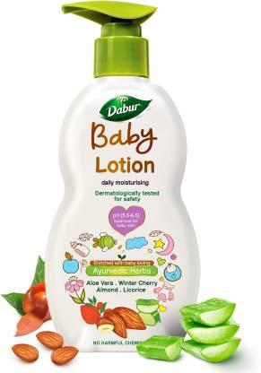 Dabur Baby Lotion Contains Aloe Vera & Almonds|pH balanced with No Parabens & Phthalates