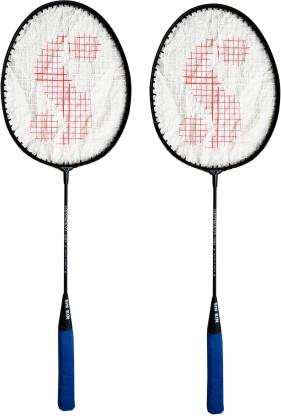 SINKIN Badminton Set of Two for all family men, Women, Boys & Girls Blue Strung Badminton Racquet