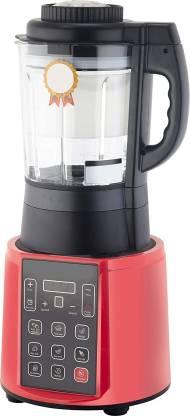 BMS Lifestyle juicer Digital Electric Kitchen Blender - Professional 1.7 Liter Capacity Home Food Processor Compact Blender for Shakes and Smoothies w/ Pulse Blend, Timer, Adjustable Speed 1000 Juicer Mixer Grinder (1 Jar, Red)