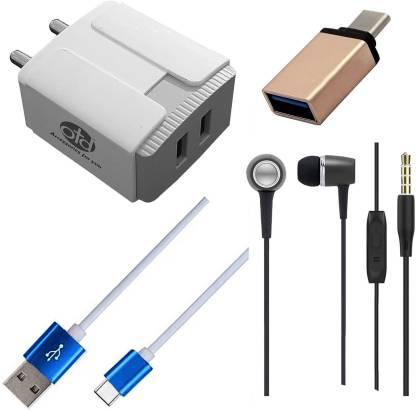 OTD Wall Charger Accessory Combo for Meizu 16, Meizu 17, Meizu 17 Pro, Meizu Pro 6