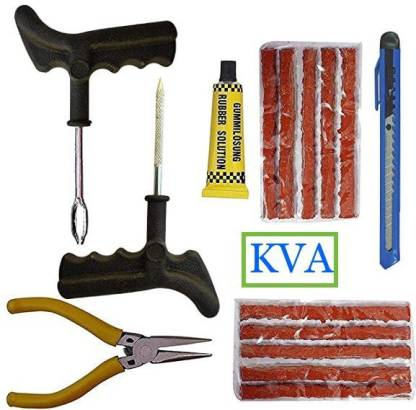 KVA KV-135- Tubeless Tyre Puncture Repair Kit Tubeless Tyre Puncture Repair Kit