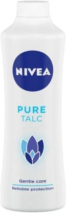 NIVEA Talcum Powder for Men & Women, Pure, For Gentle Fragrance & Reliable Protection Against Body Odour