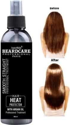 AuraSkin Professional Hair Heat Protection Spray Styling Hair Primer Spray Smooth Straight With Argan Oil Hair Spray