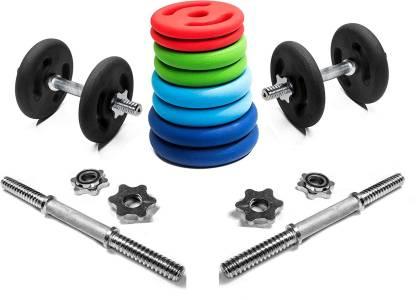 KAKSS 8 kg NEOPRENE PLATE COMBO Home Gym Combo