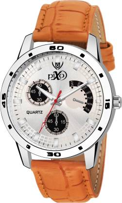 Pixo Fashion PX SRK 237-WH-BR NEW ARRIVAL FAST SELLING TRACK DESIGNER WATCH FOR PARTY_PROFESSIONAL_DIWALI_FESTIVAL SPECIAL WATCH FOR MAN Analog Watch - For Men
