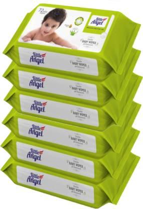 Little Angel Super Soft Baby Wipes (6 Packs of 72 Pcs)
