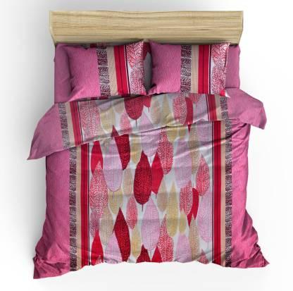 Flipkart SmartBuy 300 TC Cotton, Satin King Geometric Bedsheet