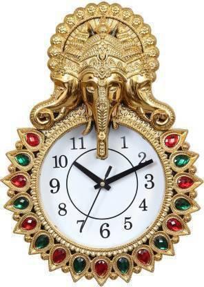 Maya Creation Analog 24 cm X 33 cm Wall Clock