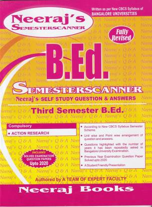B.ed 3rd Sem Scanner- Action Research- Bangalore University