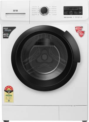 IFB 7 kg Fully Automatic Front Load with In-built Heater Black, White