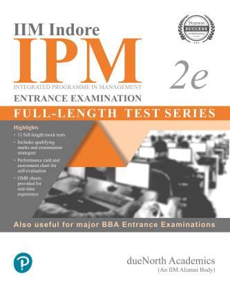 IIM INDORE IPM ENTRANSE EXAMINATION 2E