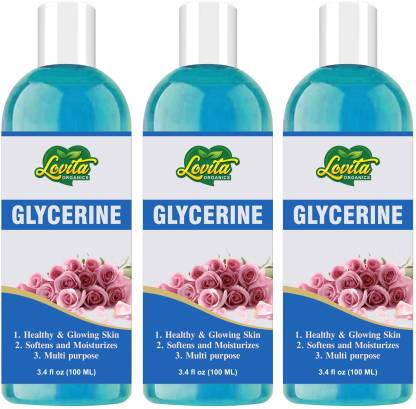 Lovita Organics 100% Pure Glycerine- To Soften & Moisturize Skin and Multipurpose- Premium Grade-