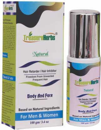 TreasureHerbs Natural Hair Inhibitor for Men & Women-1 Pack Cream