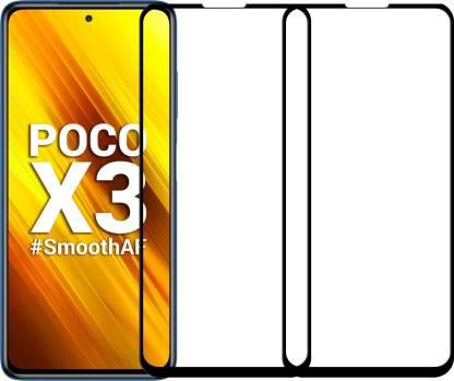 Karpine Edge To Edge Tempered Glass for Poco X3, Poco X3 Pro