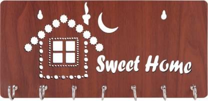 Sehaz Artworks SweetHome-Brown Wood Key Holder