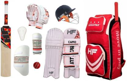 HF REDMAXX ENGLISH WILLOW Camo Full Size ( Ideal for 15-21 years ) Complete Cricket Kit