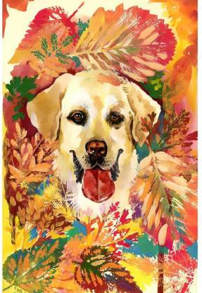 Autumn Dog Unframed Paper Poster 12inch x 18inch (30.5cms x 45.7cms) Paper Print(18 inch X 12 inch, Rolled)