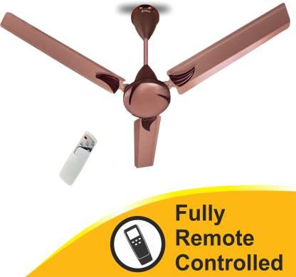 """LONGWAY CRETA RUSTY BROWN 48"""" 1200 mm Remote Controlled 3 Blade Ceiling Fan"""