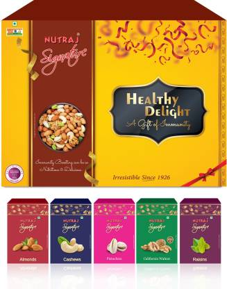 Nutraj Signature Daily Needs Pack Nuts combo (Healthy Delights) Assorted Gift Box