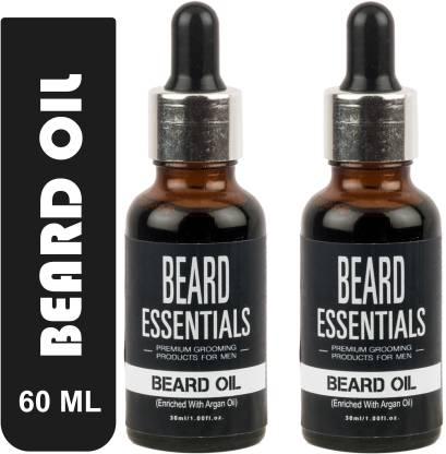 BEARD ESSENTIALS Beard Oil For Faster Beard Growth and Hair Growth - Pack Of 2 Hair Oil