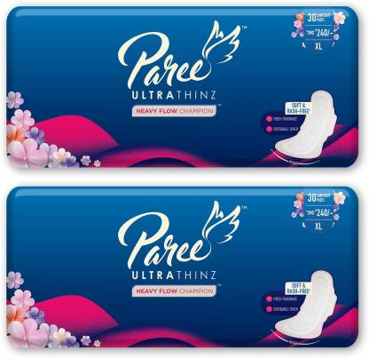 Paree Ultra Thinz 30 XL Soft Feel Sanitary Pads with Frangrance (Tri-Fold) Sanitary Pad