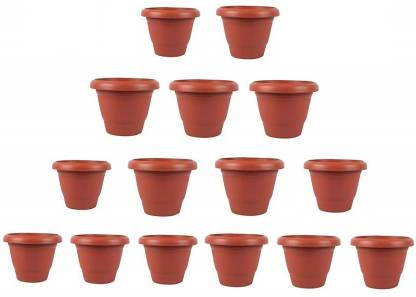 Nursery N Pots Storee Plant Container Set(Pack of 15, Plastic)
