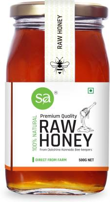 SAVAYAV Raw Honey 500g - Unprocessed Unfiltered Pure Organic & Natural Multi Flora Honey From Dakshina Kannada Beekeepers