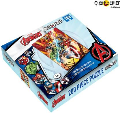 Miss & Chief 200 Piece Puzzle Avengers