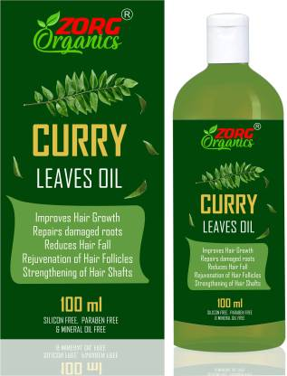 Zorg Organics Curry Leaves Oil - Improves Hair Growth, Repairs damaged roots, Reduces Hair Fall, Rejuvenation of Hair Follicles, Strengthening of Hair Shafts Hair Oil