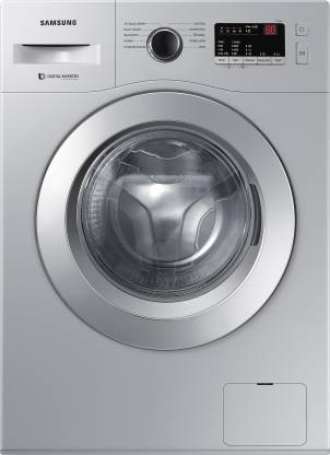 SAMSUNG 6 kg 5-star Inverter with Hygiene Steam Fully Automatic Front Load with In-built Heater Silver